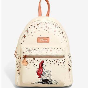 Loungefly Little Mermaid rose gold mini backpack